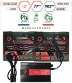 Pack lithium 12V – 2 batteries 77Ah & chargeur